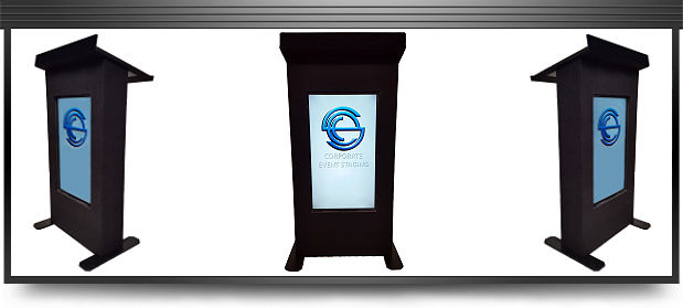 Looking to hire a LCD lectern in Cape Town? : eventstaging.co.za