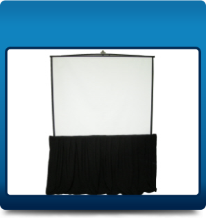 Tripod screen with skirt