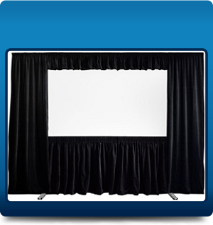 Framed screen with full drape kit