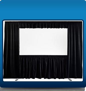 Framed screen with full drape kit