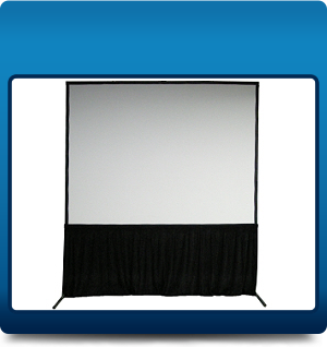 Framed screen with skirt