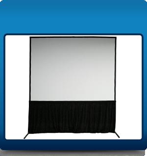 Framed screen with skirt
